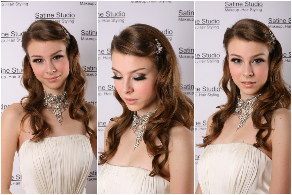 Makeup, hair and jewellery by Satine