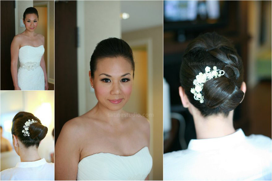2012-08-28 Makeup  hair  hair jewellery: Satine Weekday wedding- client from London England.