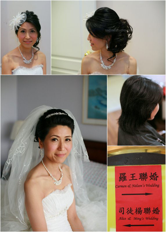 Short hair bride hairstyles